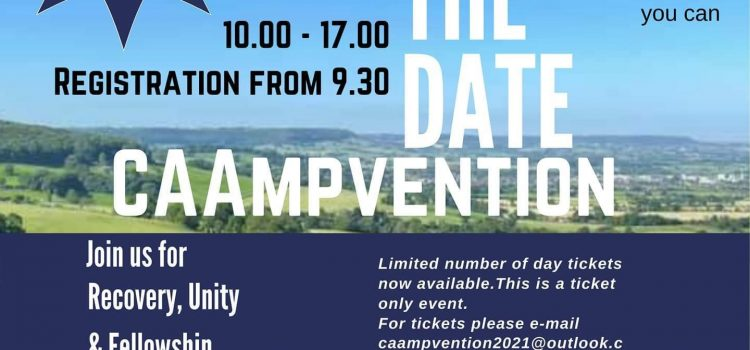 CAAmpvention 2021 – A few pitches left for camping, DayTickets now available (tickets essential due to limited parking).